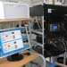Stand with hardware and software for data acquisition.